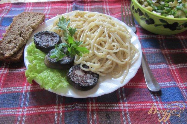 Рецепт Паста с кровяной колбасой и травами
