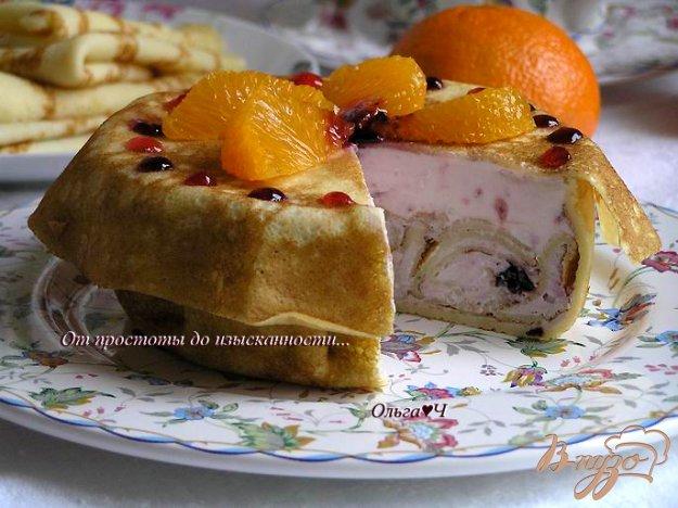 Рецепт Малиново-черничный блинный торт