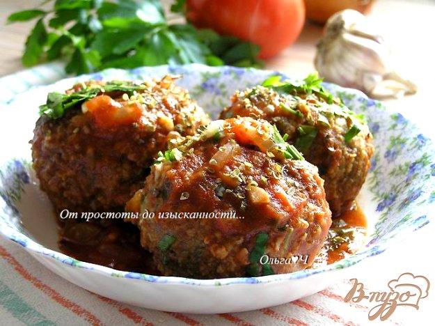Рецепт Мясные шарики с травами в томатном соусе