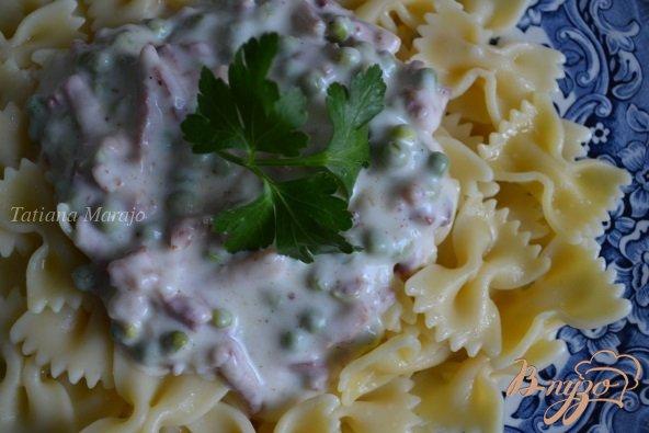 Рецепт Соус из ветчины с зеленым горошком