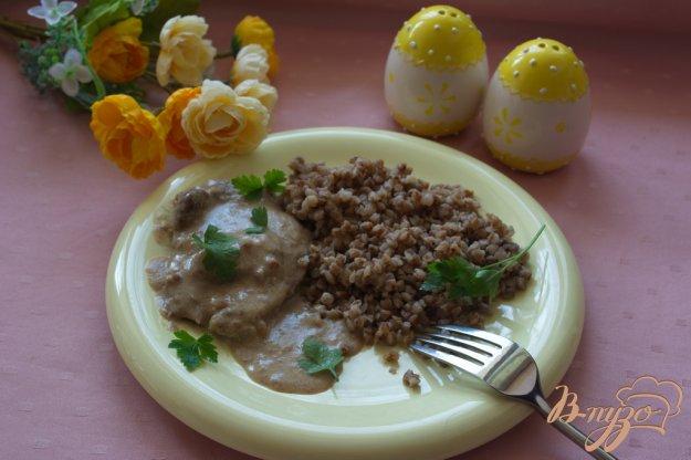 Рецепт Вкусная говядина в сметанном соусе