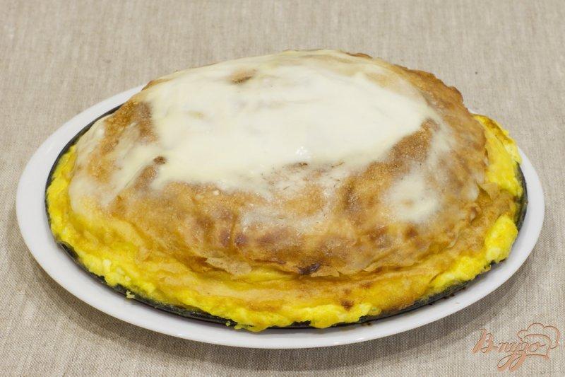 Фото приготовление рецепта: Пирог с лососем шаг №12