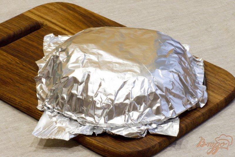Фото приготовление рецепта: Пирог с лососем шаг №10