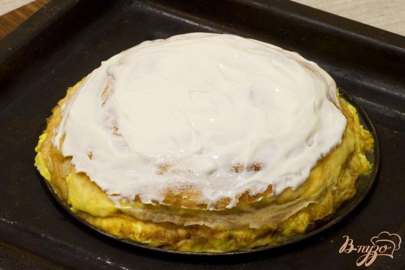 Фото приготовление рецепта: Пирог с лососем шаг №11