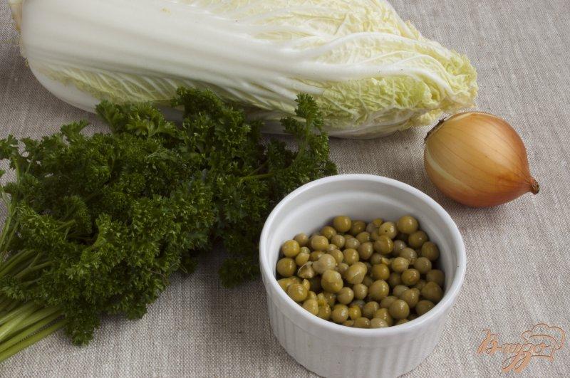 Фото приготовление рецепта: Салат с горошком шаг №1