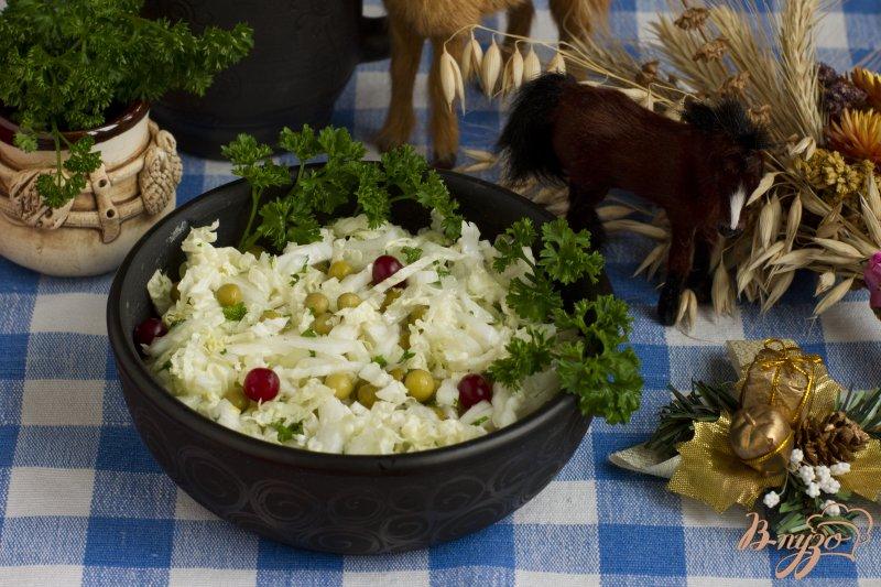 Фото приготовление рецепта: Салат с горошком шаг №6