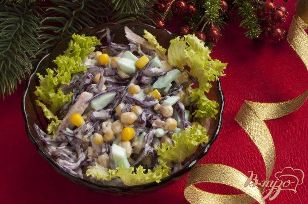 Рецепт Салат из краснокачанной капусты