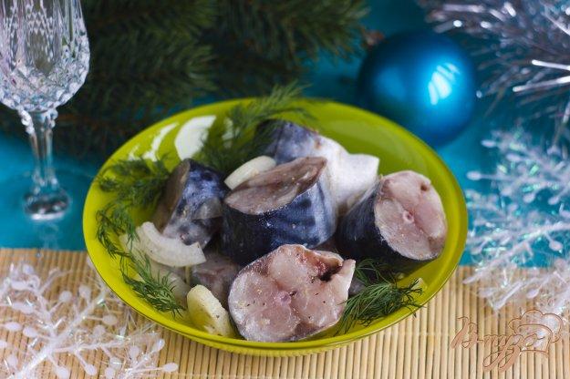 фото рецепта: Маринованная скумбрия