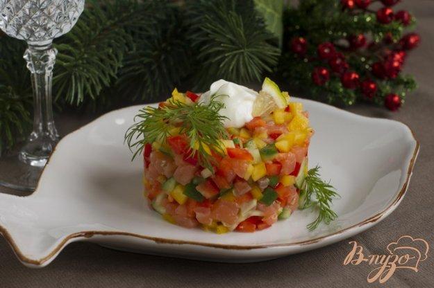 Рецепт Салат с рыбой и овощами.