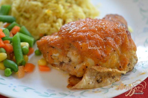 Рецепт Куриные бедрышки с пряным соусом ревеня