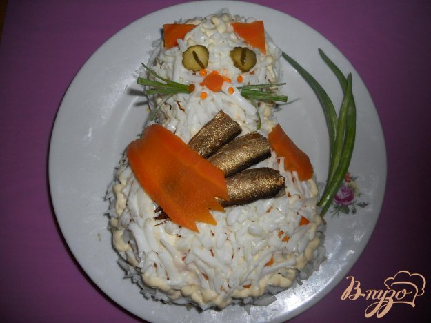 "Рецепт Салат ""Удачная рыбалка"""