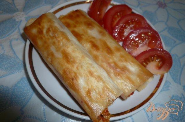 Рецепт Рулетики из лаваша с сыром и сладким болгарским перцем