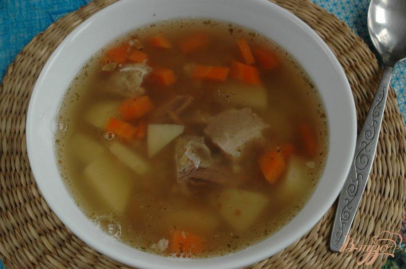 Фото приготовление рецепта: Суп с грудинкой шаг №6