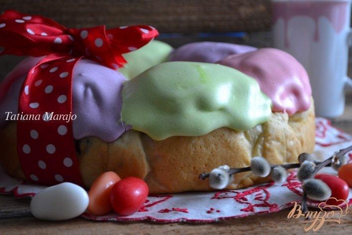 Фото приготовление рецепта: Пасхальный веночек шаг №11