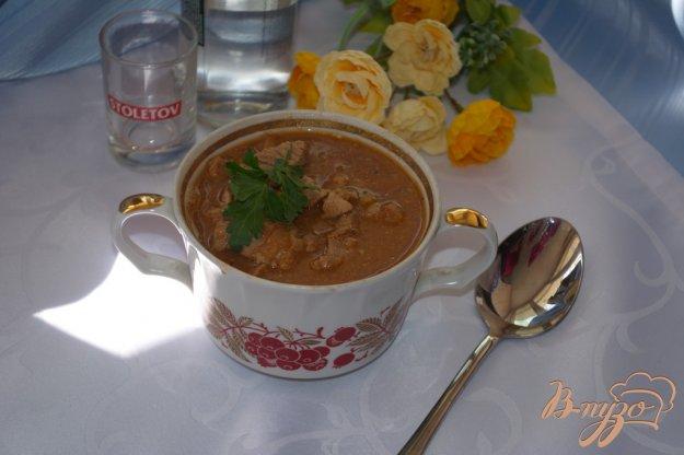 Рецепт Мясо тушеное в томате с фасолью