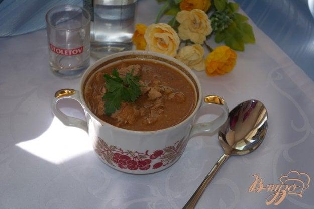 фото рецепта: Мясо тушеное в томате с фасолью