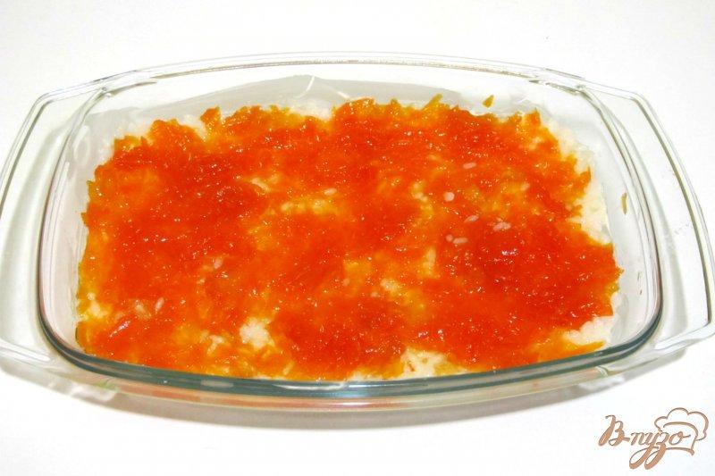 Фото приготовление рецепта: Запеканка из риса и яблок шаг №6
