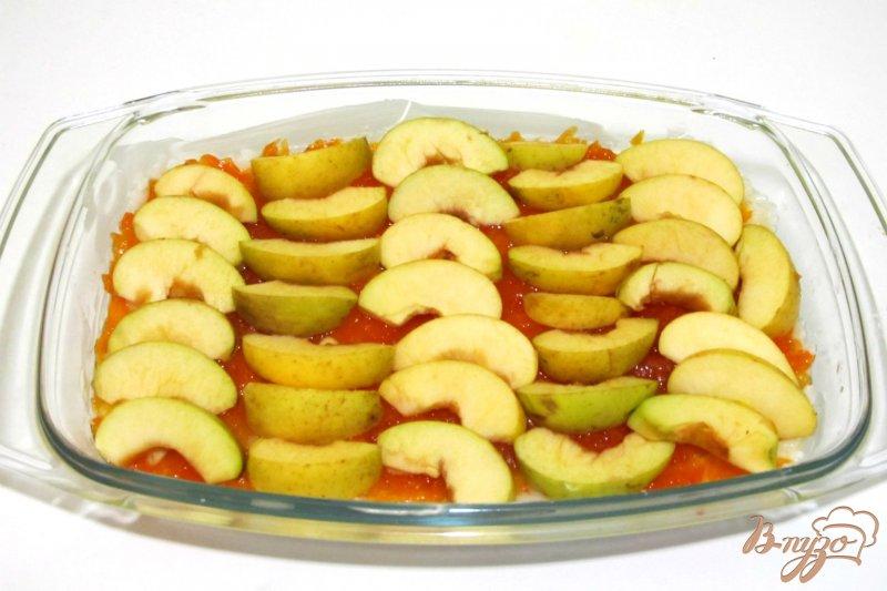 Фото приготовление рецепта: Запеканка из риса и яблок шаг №7