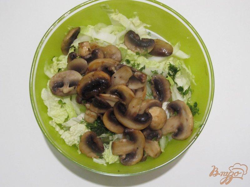 Фото приготовление рецепта: Салат из пекинской капусты и киви шаг №5