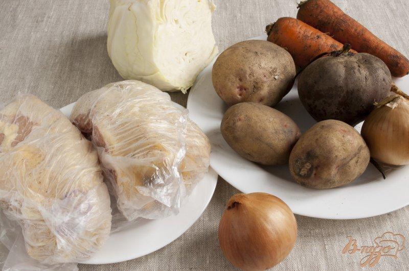 Фото приготовление рецепта: Борщ по-полтавски шаг №1