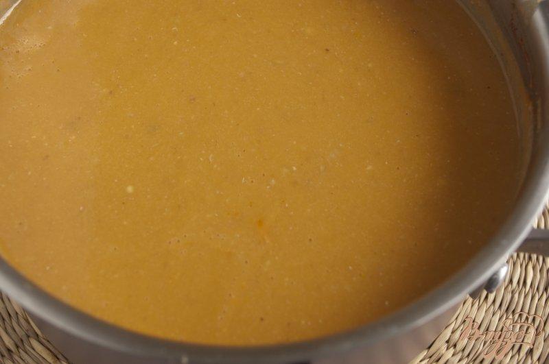 Фото приготовление рецепта: Чечевичный суп-пюре с баклажаном шаг №6