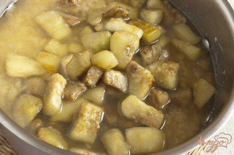 Фото приготовление рецепта: Чечевичный суп-пюре с баклажаном шаг №4