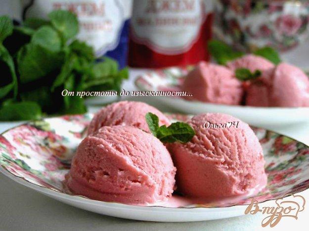 Рецепт Малиново-черничное мороженое с мятным сиропом