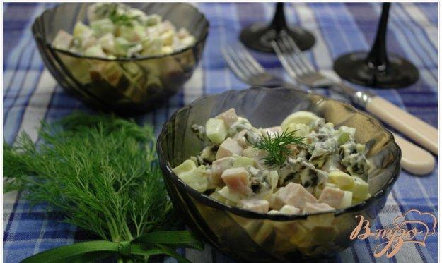 фото рецепта: Салат с ветчиной и черносливом