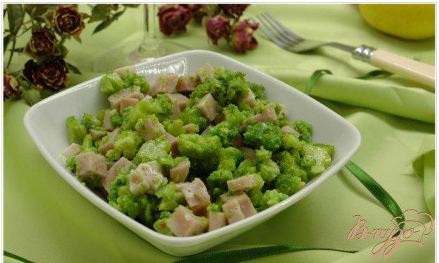 Рецепт Салат с брокколи и ветчиной