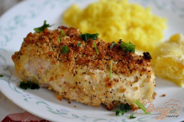 фото рецепта: Куриные грудки с корочкой горчицы и фенхелем