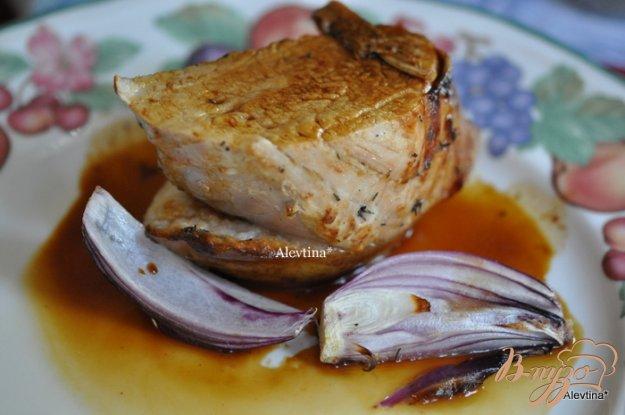 фото рецепта: Свиная вырезка  с грушами и глазурью