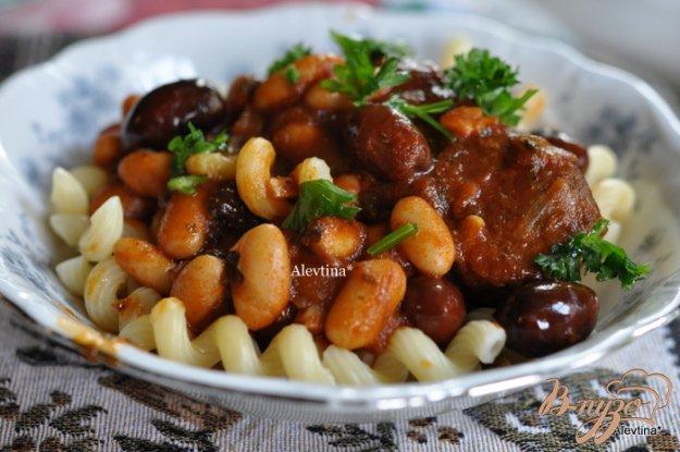 Рецепт Жаркое в томатном соусе с белой фасолью