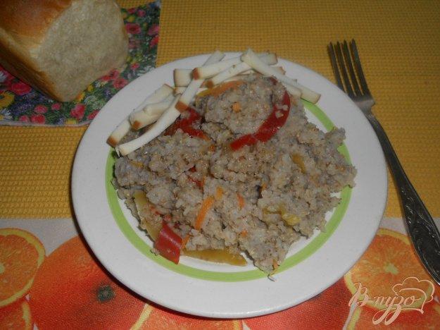 Рецепт Ячневая каша с овощами в мультиварке