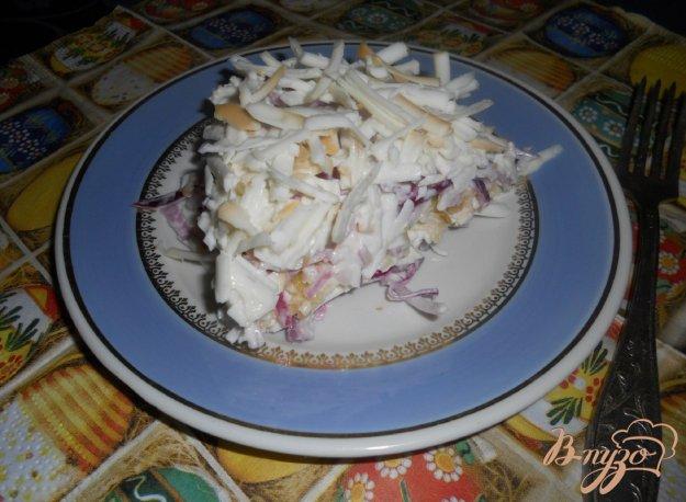 Рецепт Салат луковый с яблоком и колбасным сыром