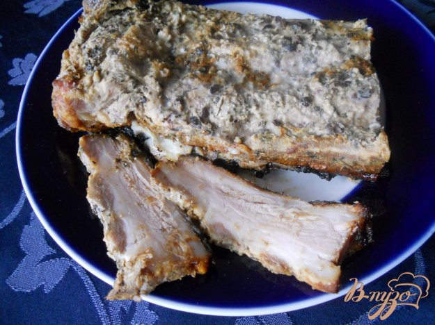 Рецепт Грудинка запеченная с горчицей