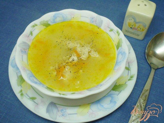 Фото приготовление рецепта: Овсяный суп на курином бульоне шаг №5