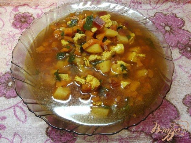 Рецепт Куриный суп со шпинатом