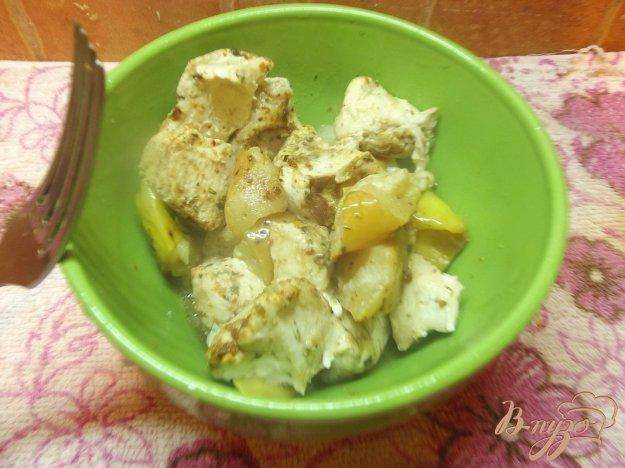Рецепт Куриное филе в рукаве с яблоками