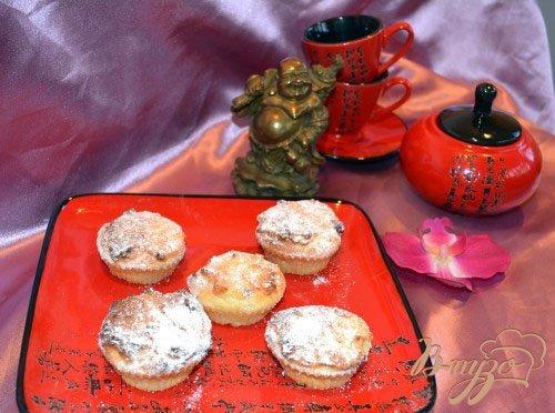 Рецепт Творожные кексы с малиновым джемом