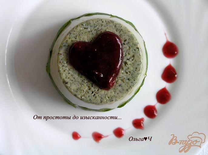 Фото приготовление рецепта: Мятное бланманже с вишневым конфитюром шаг №5