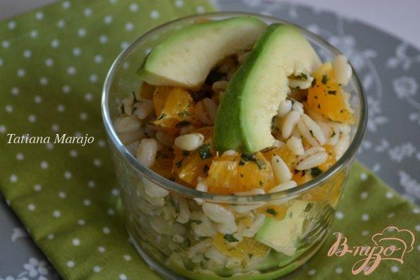 Рецепт Салат с перловкой , апельсинами и авокадо