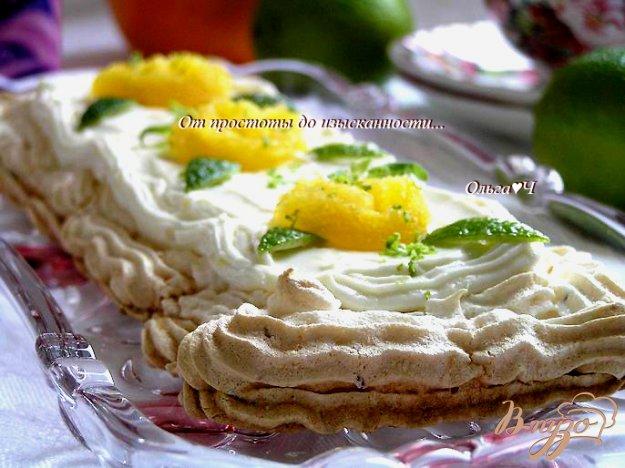 Рецепт Лаймовый торт-безе с имбирем и малиновым джемом