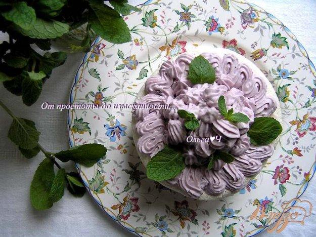 Рецепт Торт-безе с черничным кремом