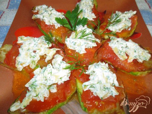 Рецепт Закуска из кабачков с помидорами