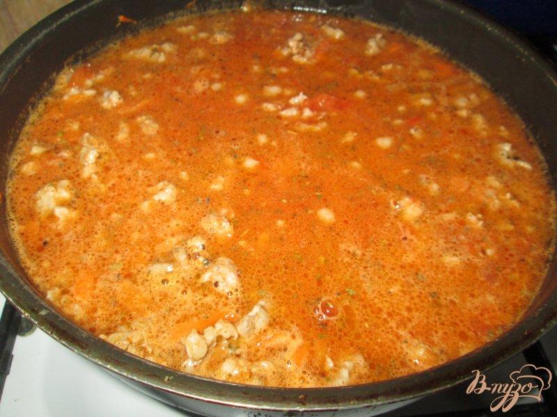 Фото приготовление рецепта: Паста а-ля болоньезе шаг №4