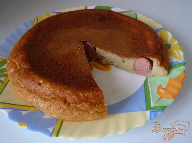 фото рецепта: Пирог с сосисками