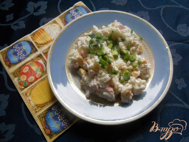 Рецепт Рисовый салат с крабовым мясом