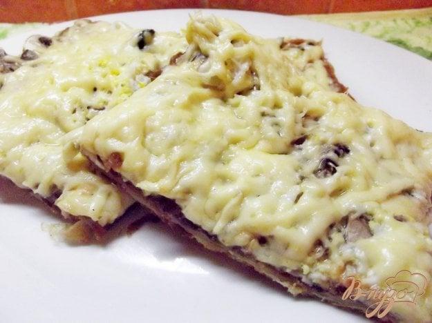 Рецепт Пицца с сырыми шампиньонами