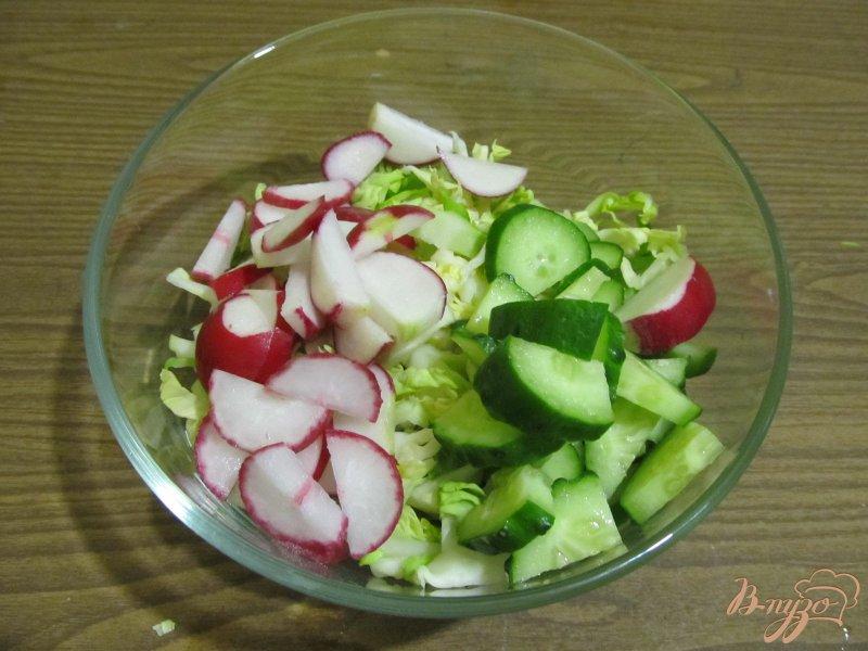 Фото приготовление рецепта: Салат весенний шаг №2