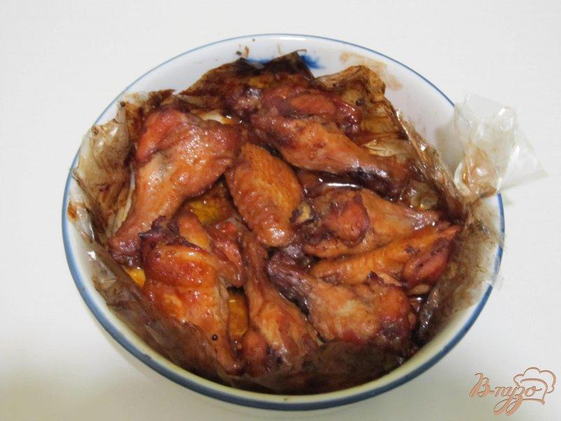 Фото приготовление рецепта: Крылышки медовые шаг №6